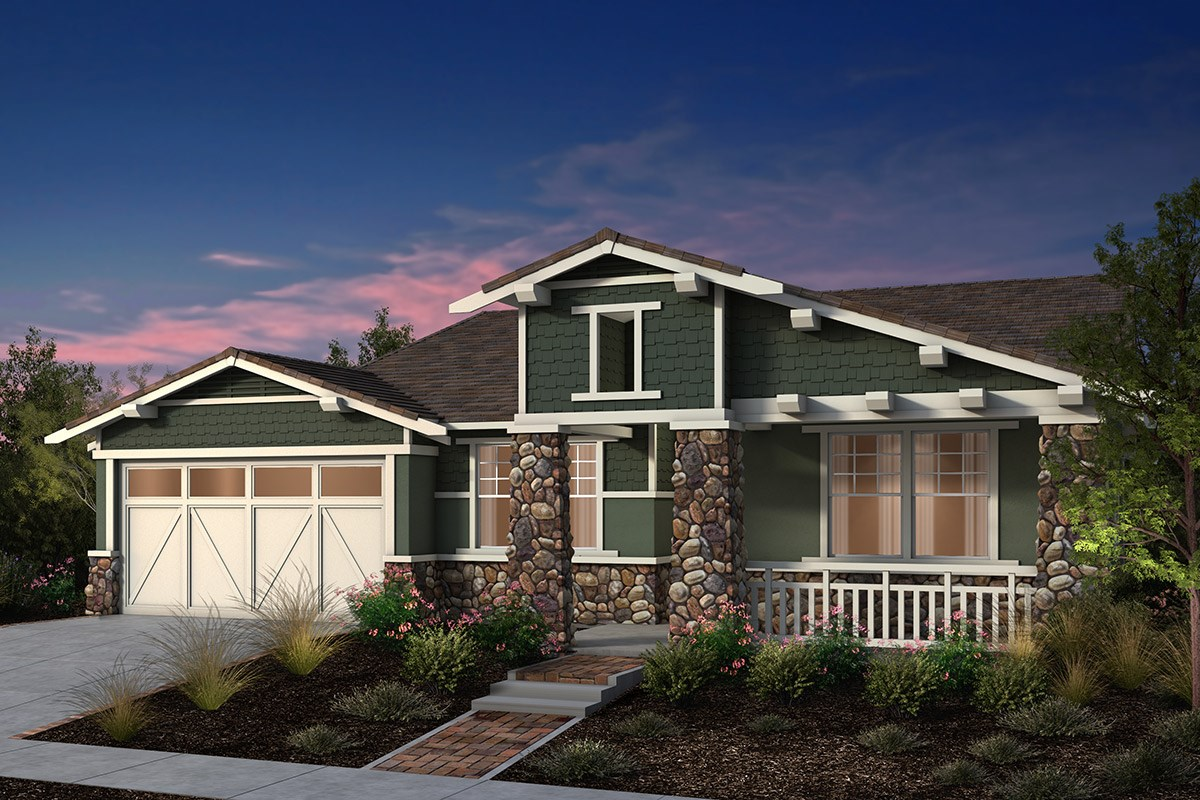 New Homes in Fremont, CA - North Grove at Patterson Ranch Plan 1 Craftsman Elevation