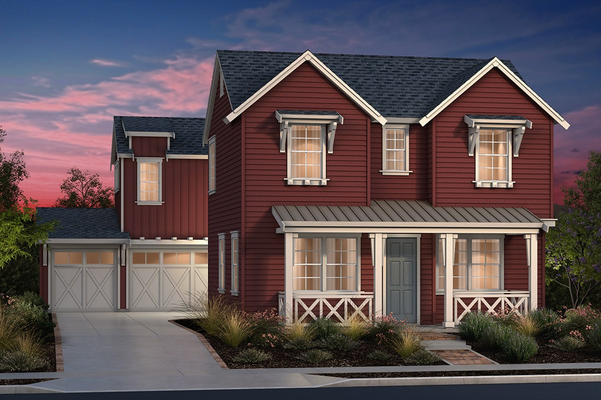 New Homes in Fremont, CA - North Grove at Patterson Ranch Plan 2 Farmhouse Elevation