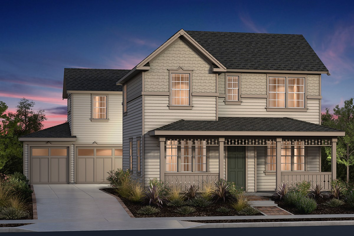 New Homes in Fremont, CA - North Grove at Patterson Ranch Plan 2 Victorian Elevation