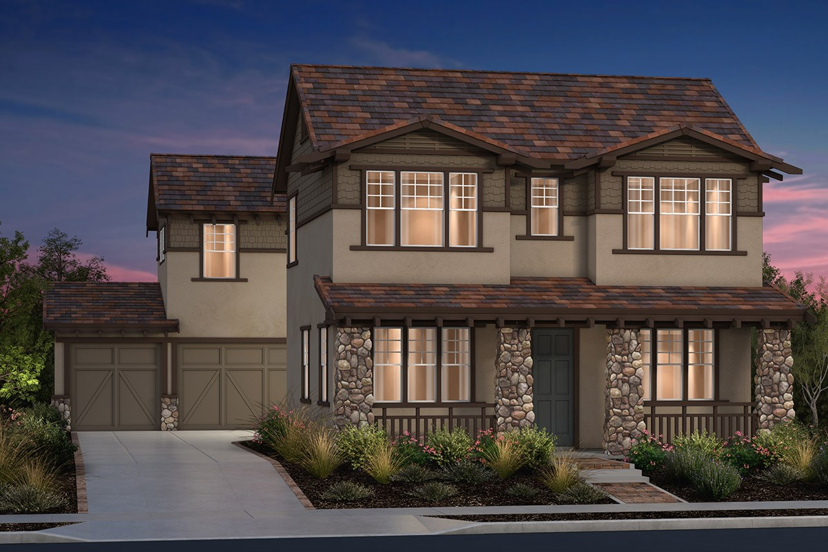 New Homes in Fremont, CA - North Grove at Patterson Ranch Plan 2 Craftsman Elevation