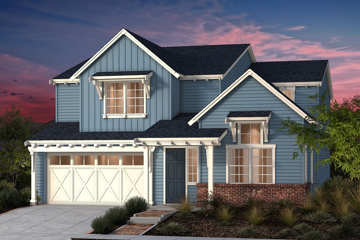 New Homes in Fremont, CA - North Grove at Patterson Ranch Plan 3 Farmhouse Elevation