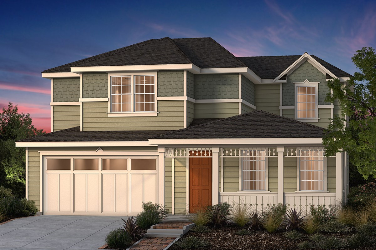 New Homes in Fremont, CA - North Grove at Patterson Ranch Plan 3 Victorian Elevation