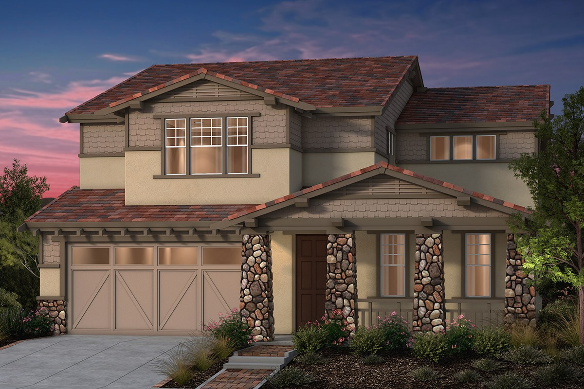 New Homes in Fremont, CA - North Grove at Patterson Ranch Plan 3 Craftsman Elevation