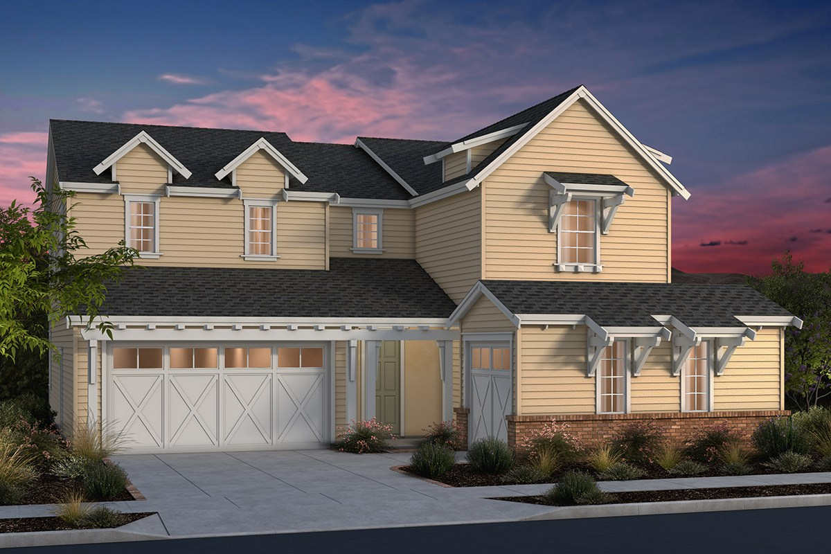 New Homes in Fremont, CA - North Grove at Patterson Ranch Plan 4 Farmhouse Elevation