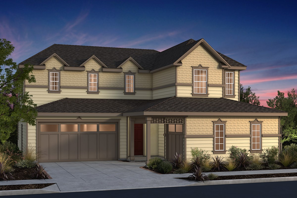 New Homes in Fremont, CA - North Grove at Patterson Ranch Plan 4 Victorian Elevation