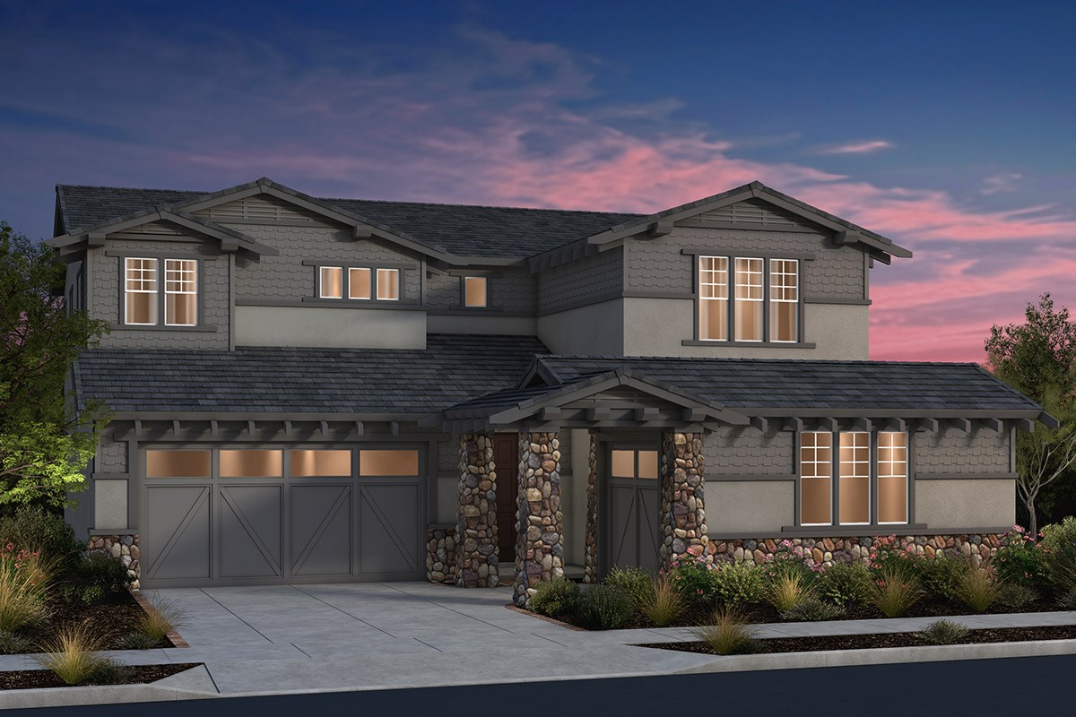 New Homes in Fremont, CA - North Grove at Patterson Ranch Plan 4 Craftsman Elevation