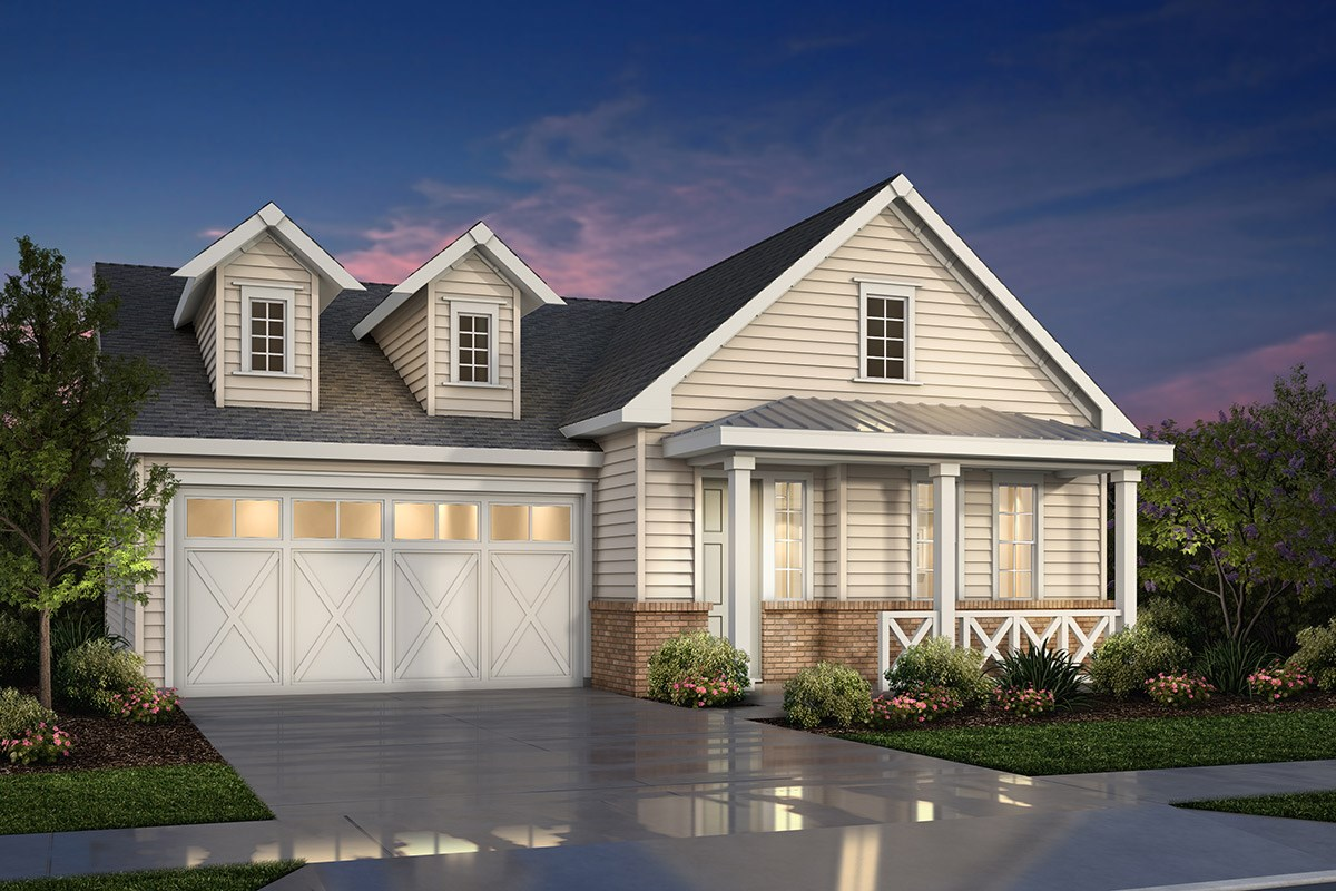 New Homes in Fremont, CA - Magnolia at Patterson Ranch Plan 1 Farmhouse Elevation