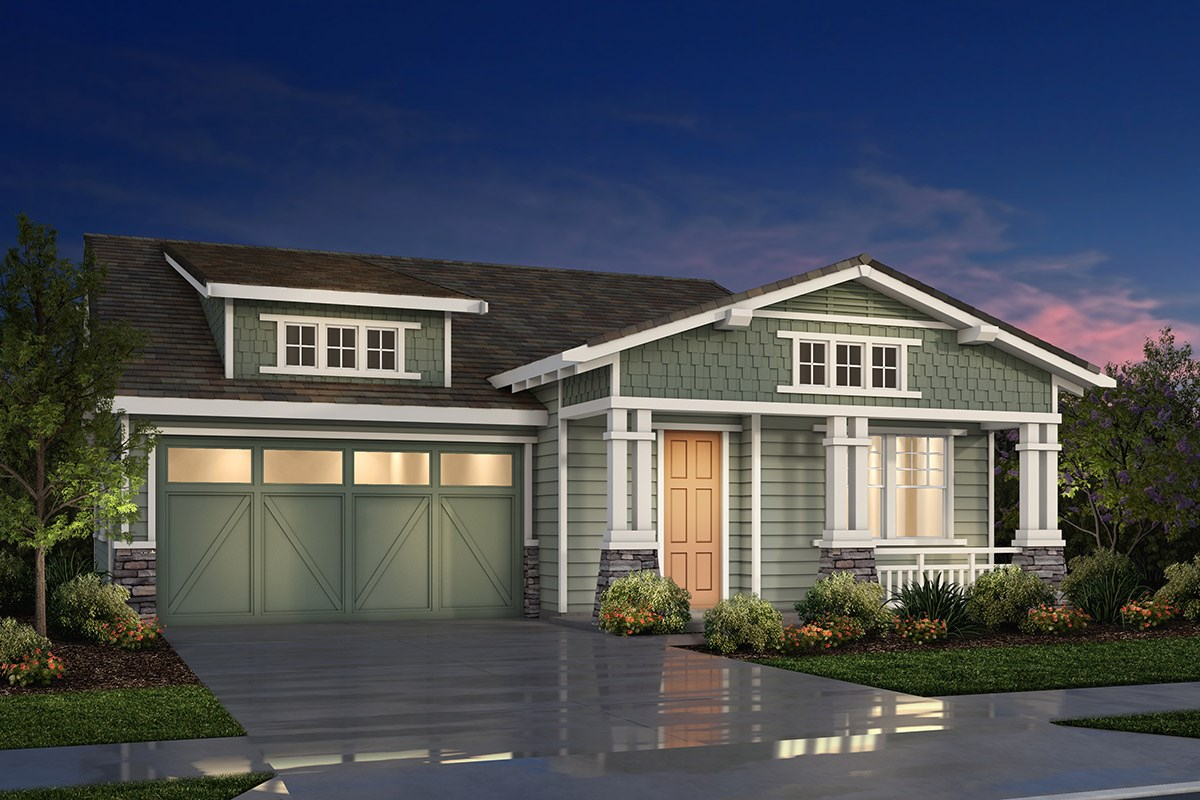 New Homes in Fremont, CA - Magnolia at Patterson Ranch Plan 1 Craftsman Elevation