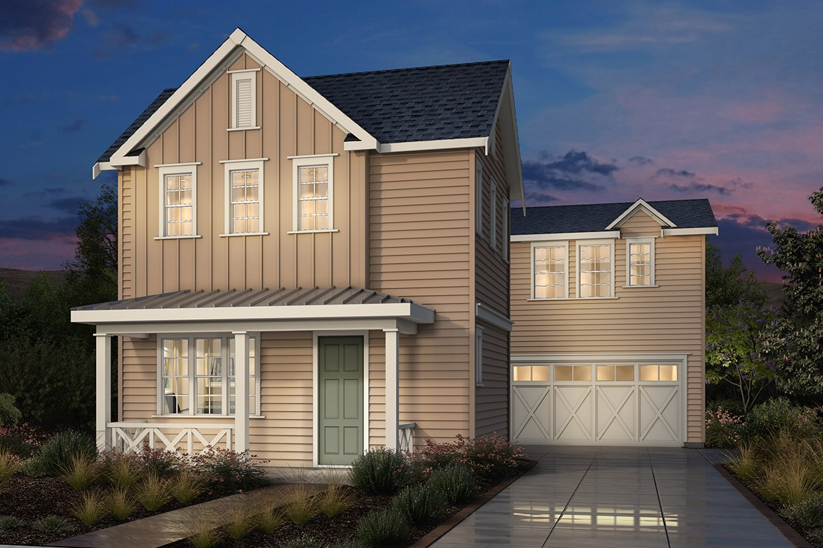 New Homes in Fremont, CA - Magnolia at Patterson Ranch Plan 2 Farmhouse Elevation