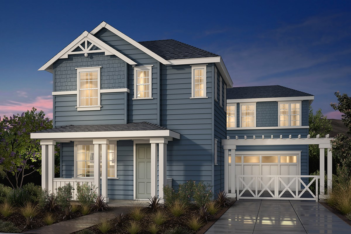 New Homes in Fremont, CA - Magnolia at Patterson Ranch Plan 2 Victorian Elevation