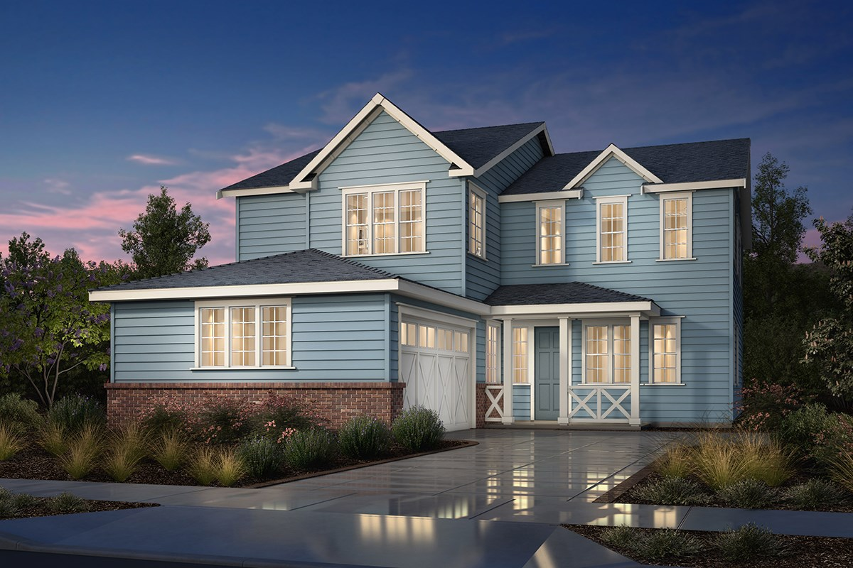New Homes in Fremont, CA - Magnolia at Patterson Ranch Plan 3 Farmhouse Elevation