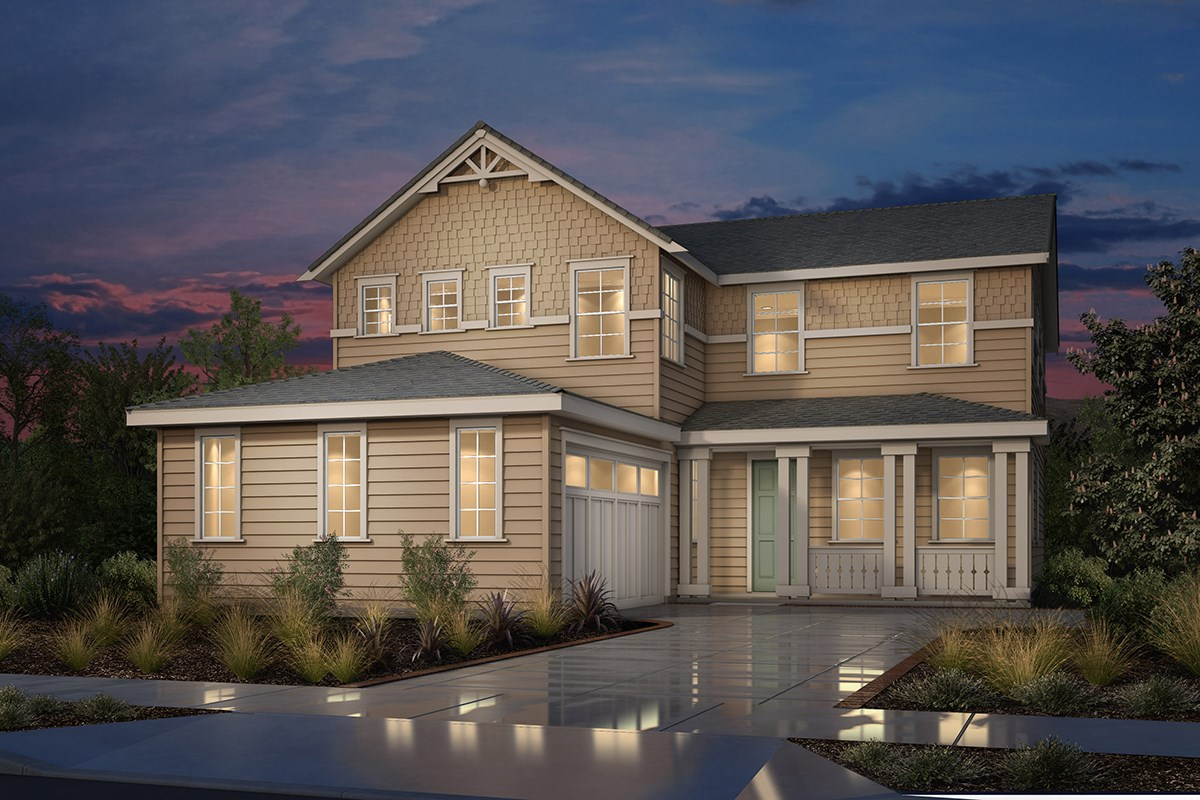 New Homes in Fremont, CA - Magnolia at Patterson Ranch Plan 3 Victorian Elevation