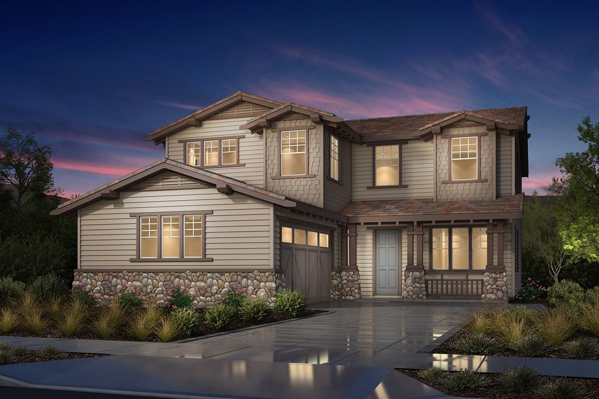 New Homes in Fremont, CA - Magnolia at Patterson Ranch Plan 3 Craftsman Elevation