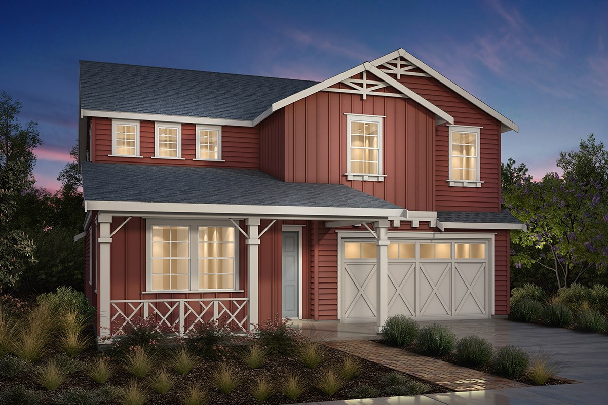 New Homes in Fremont, CA - Magnolia at Patterson Ranch Plan 4 Farmhouse Elevation