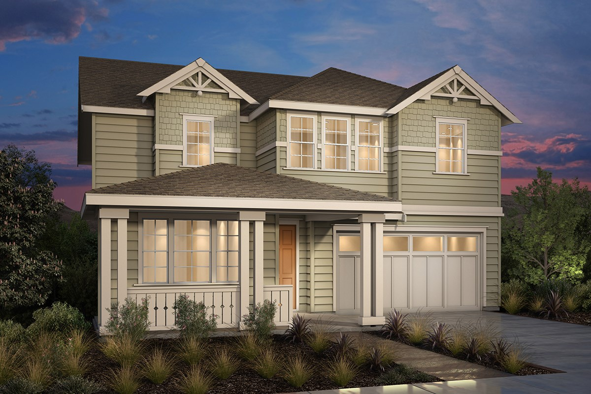 New Homes in Fremont, CA - Magnolia at Patterson Ranch Plan 4 Victorian Elevation