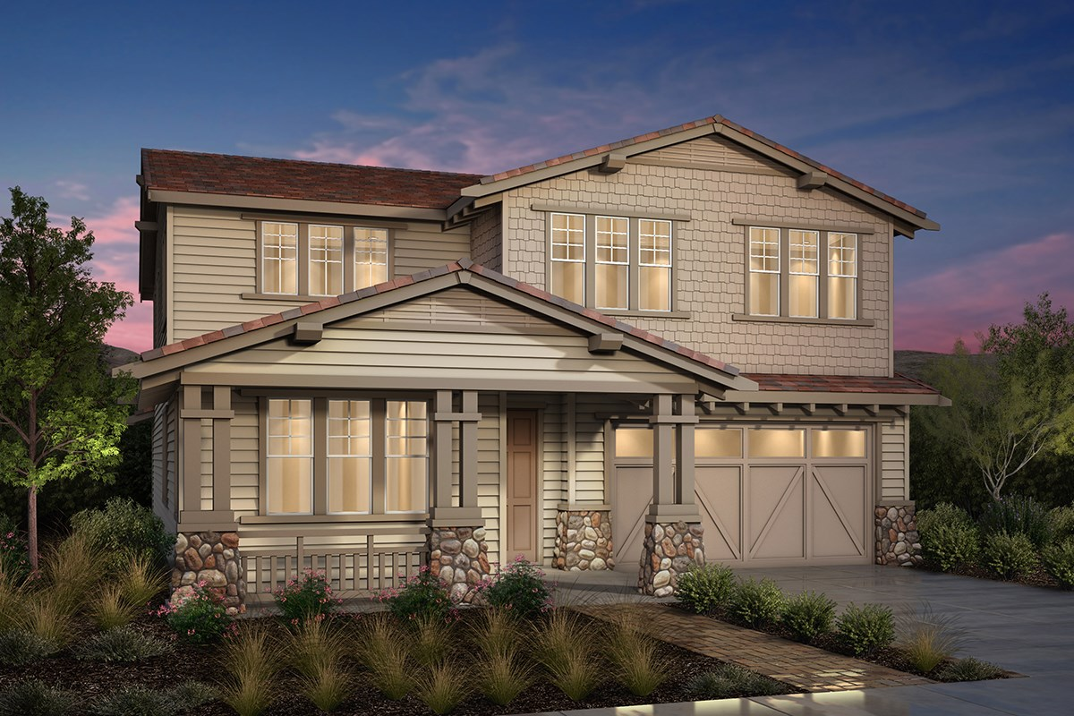 New Homes in Fremont, CA - Magnolia at Patterson Ranch Plan 4 Craftsman Elevation