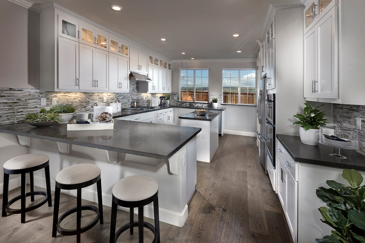 New Homes in Fremont, CA - Magnolia at Patterson Ranch Plan 1 Kitchen