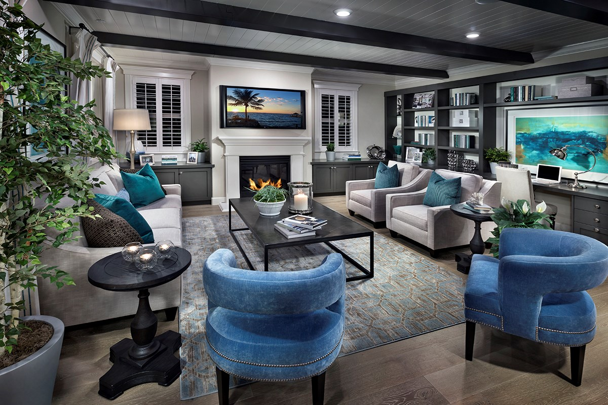 New Homes in Fremont, CA - Magnolia at Patterson Ranch Plan 4 Family Room