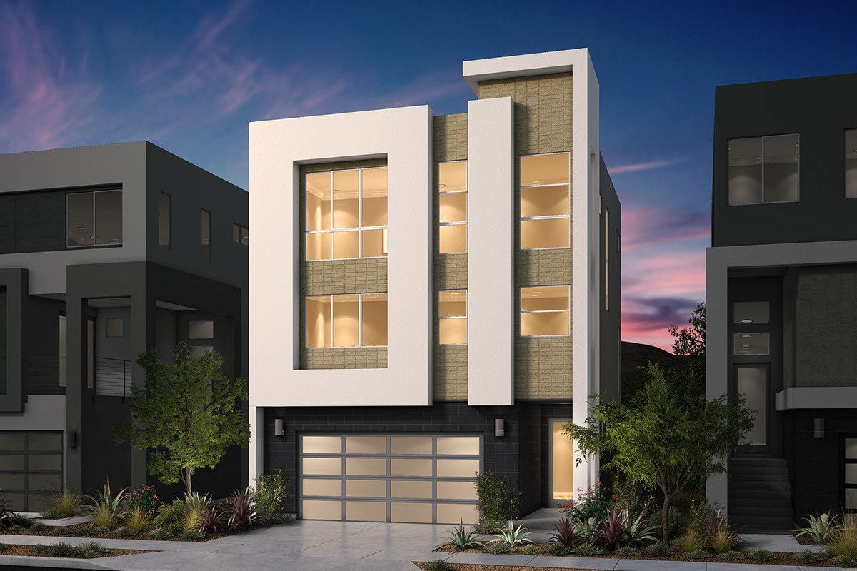 New Homes in San Jose, CA - Platinum II at Communications Hill  Plan 1 Contemporary A