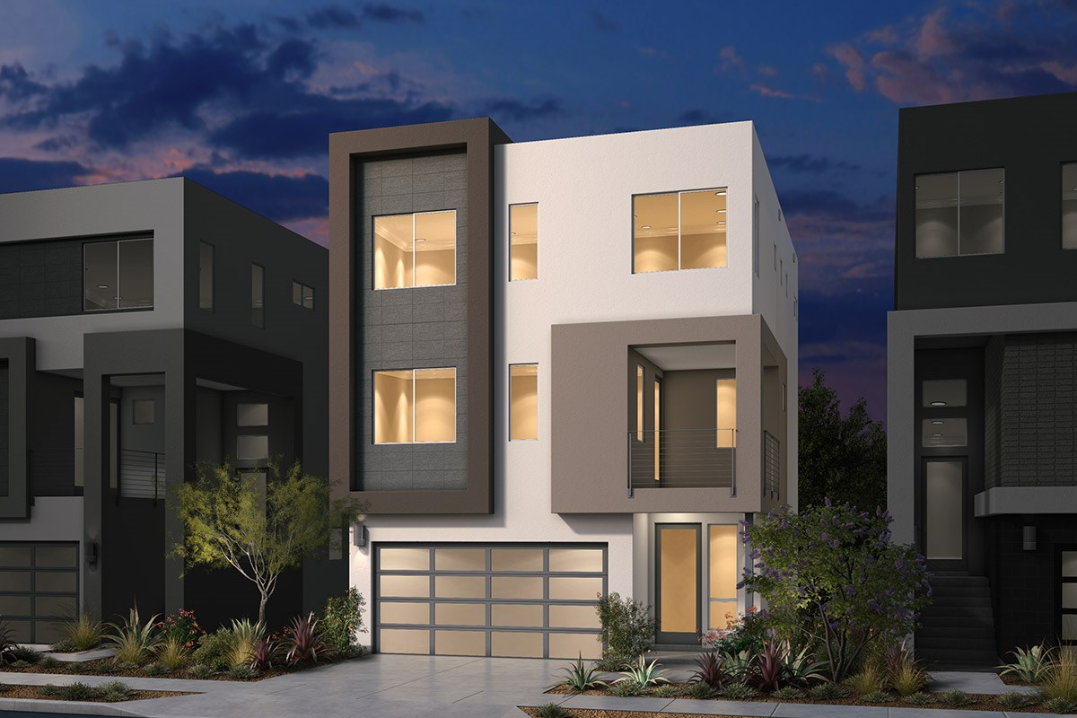 New Homes in San Jose, CA - Platinum II at Communications Hill  Plan 2 Contemporary B