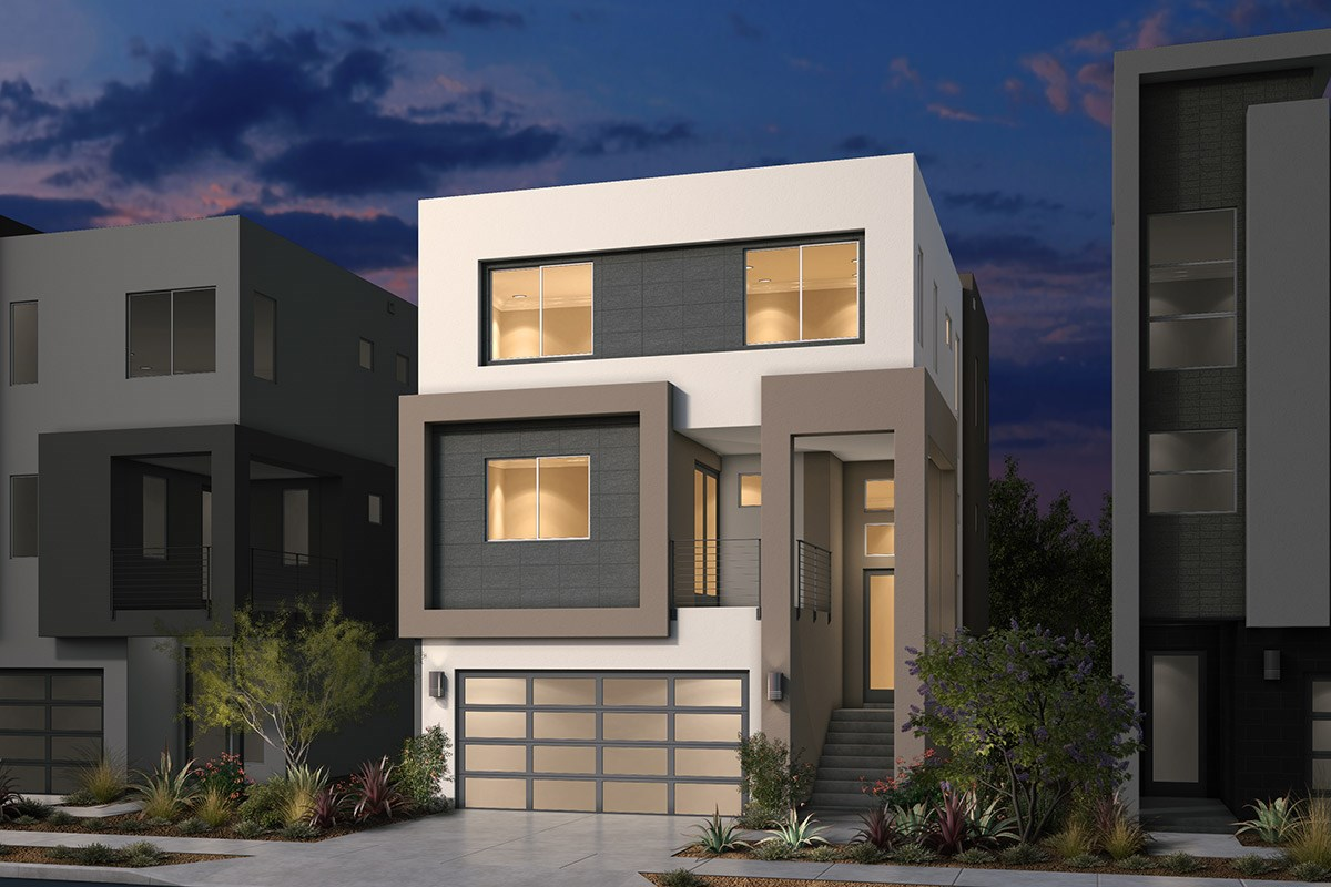 New Homes in San Jose, CA - Platinum II at Communications Hill  Plan 3 Contemporary B