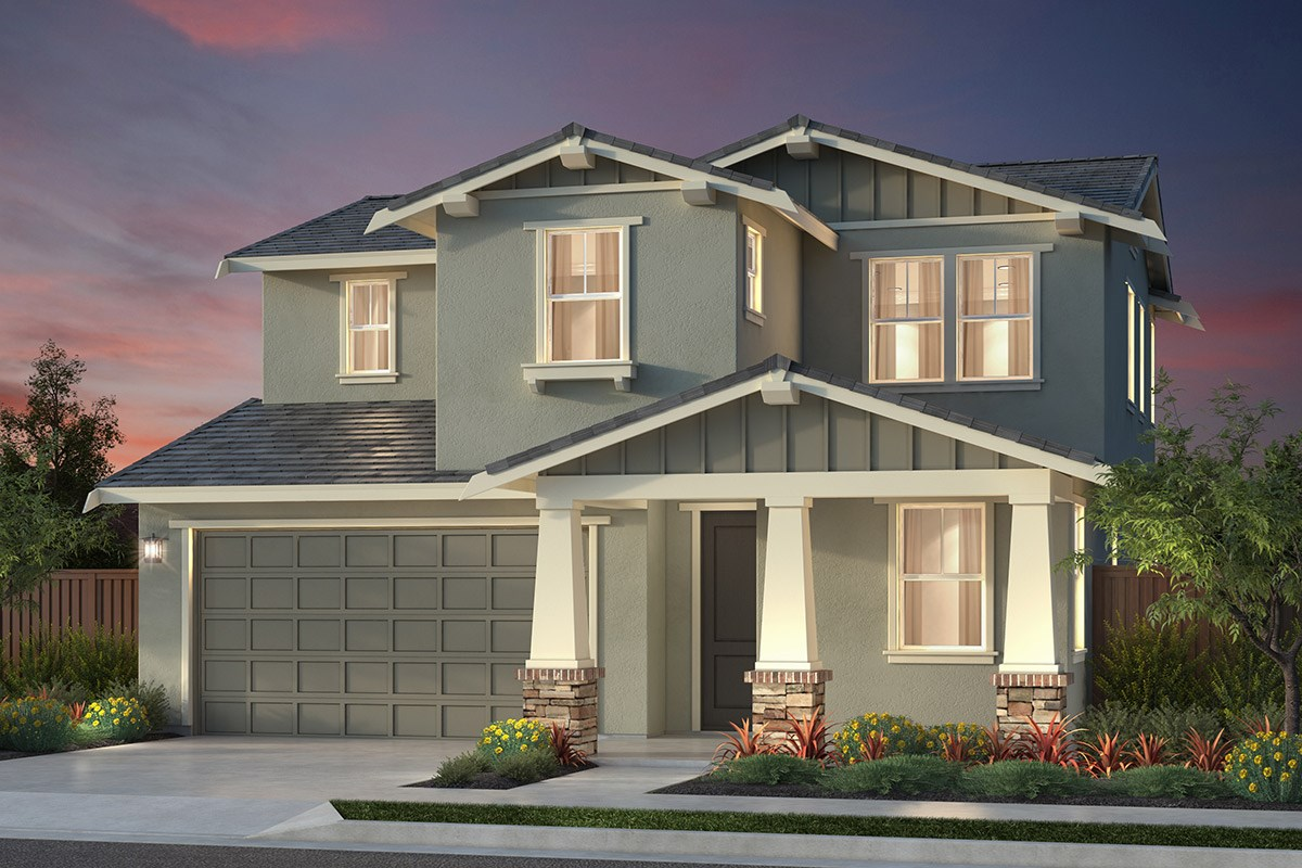 New Homes in Newark, CA - Primrose at Sanctuary Village Plan 1 Craftsman 'B'