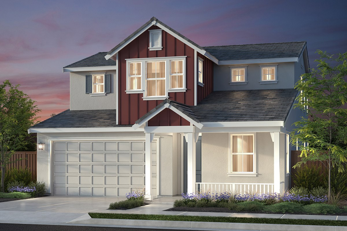 New Homes in Newark, CA - Primrose at Sanctuary Village Plan 1 Farmhouse 'C'