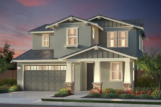 New Homes in Newark, CA - Plan 1 Craftsman 'B' Elevation