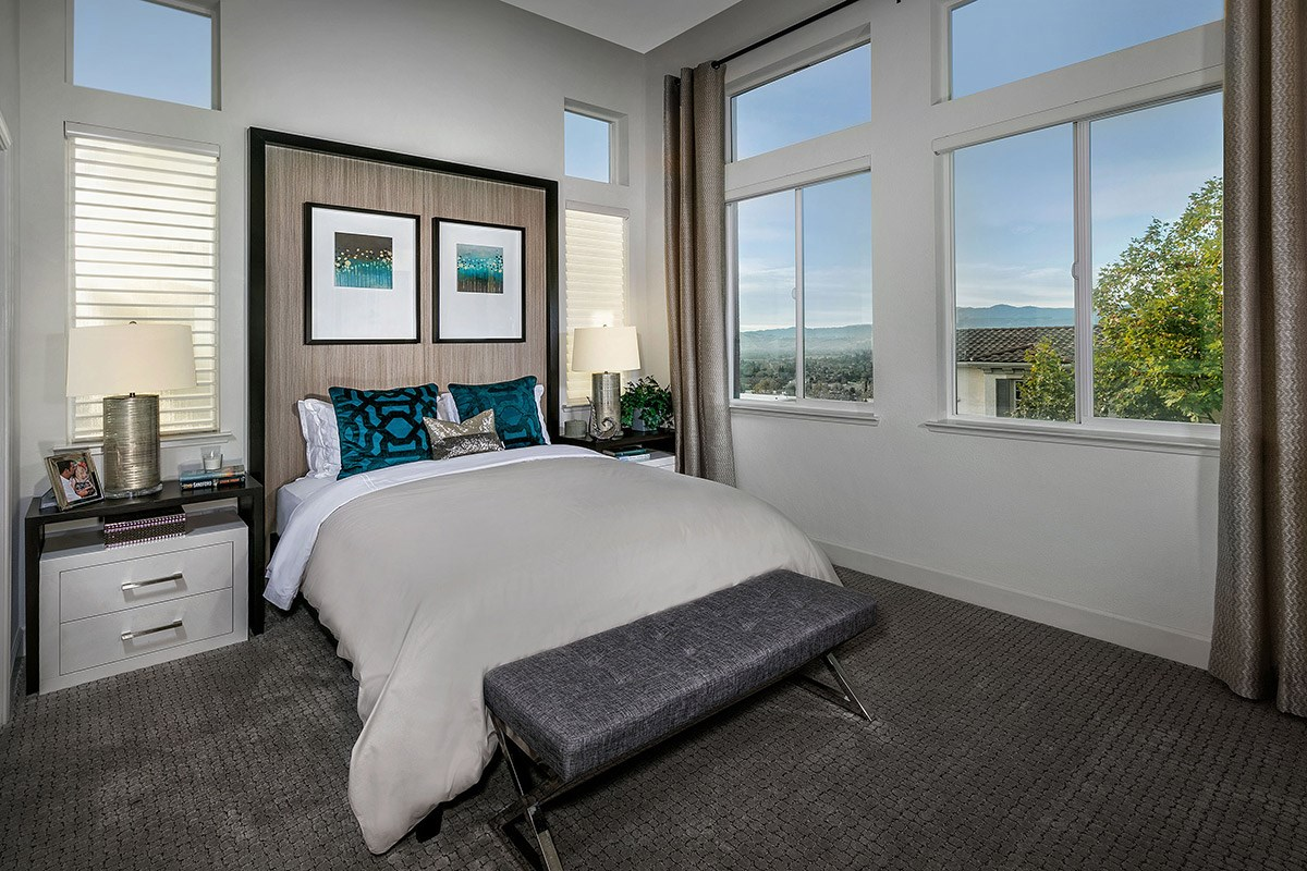 New Homes in San Jose, CA - Promenade II at Communications Hill Plan 3 Master Bedroom