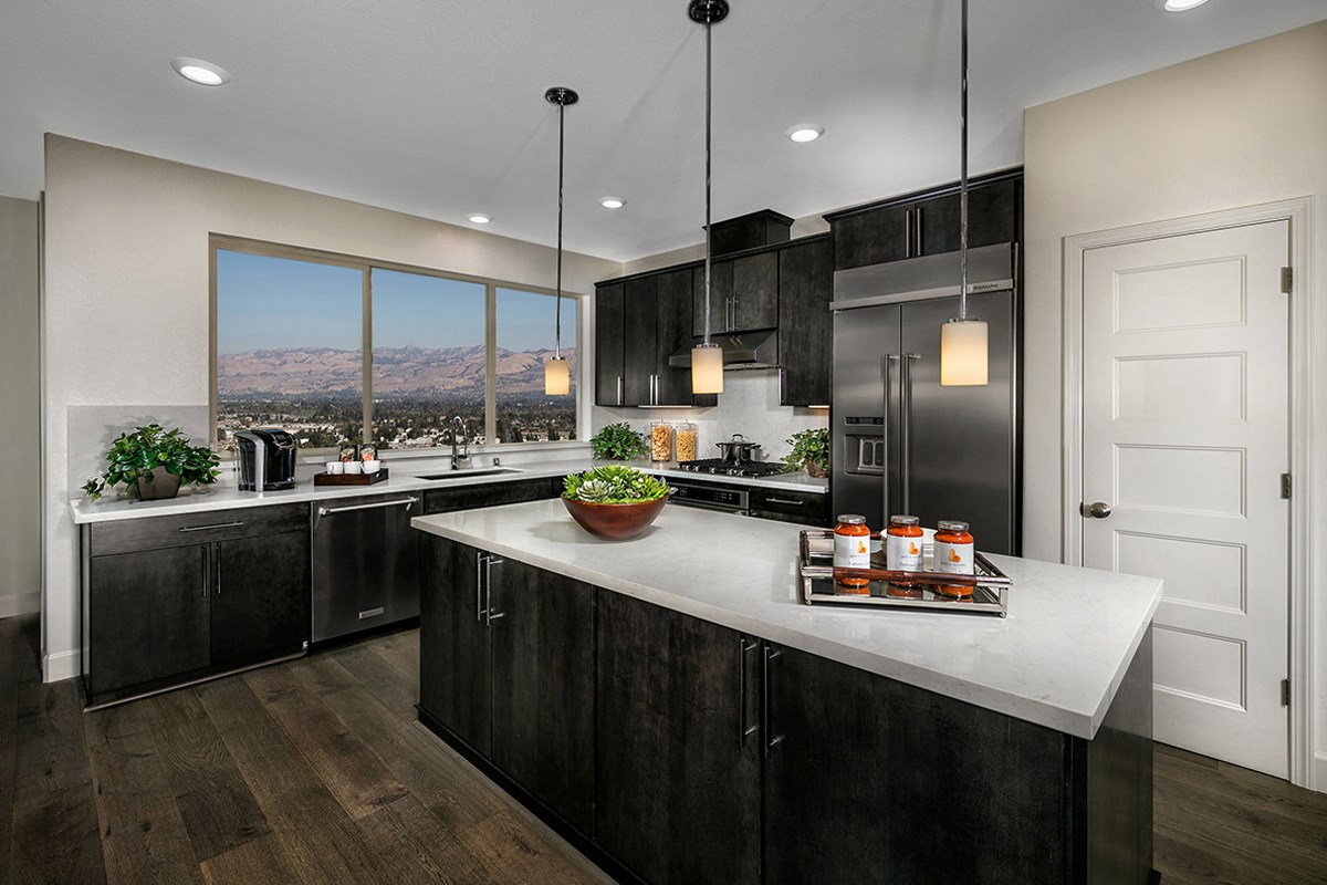 New Homes in San Jose, CA - Promenade II at Communications Hill Plan 1 Kitchen