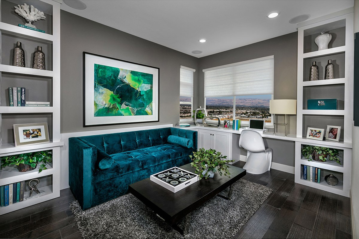 New Homes in San Jose, CA - Promenade II at Communications Hill Plan 3 Den