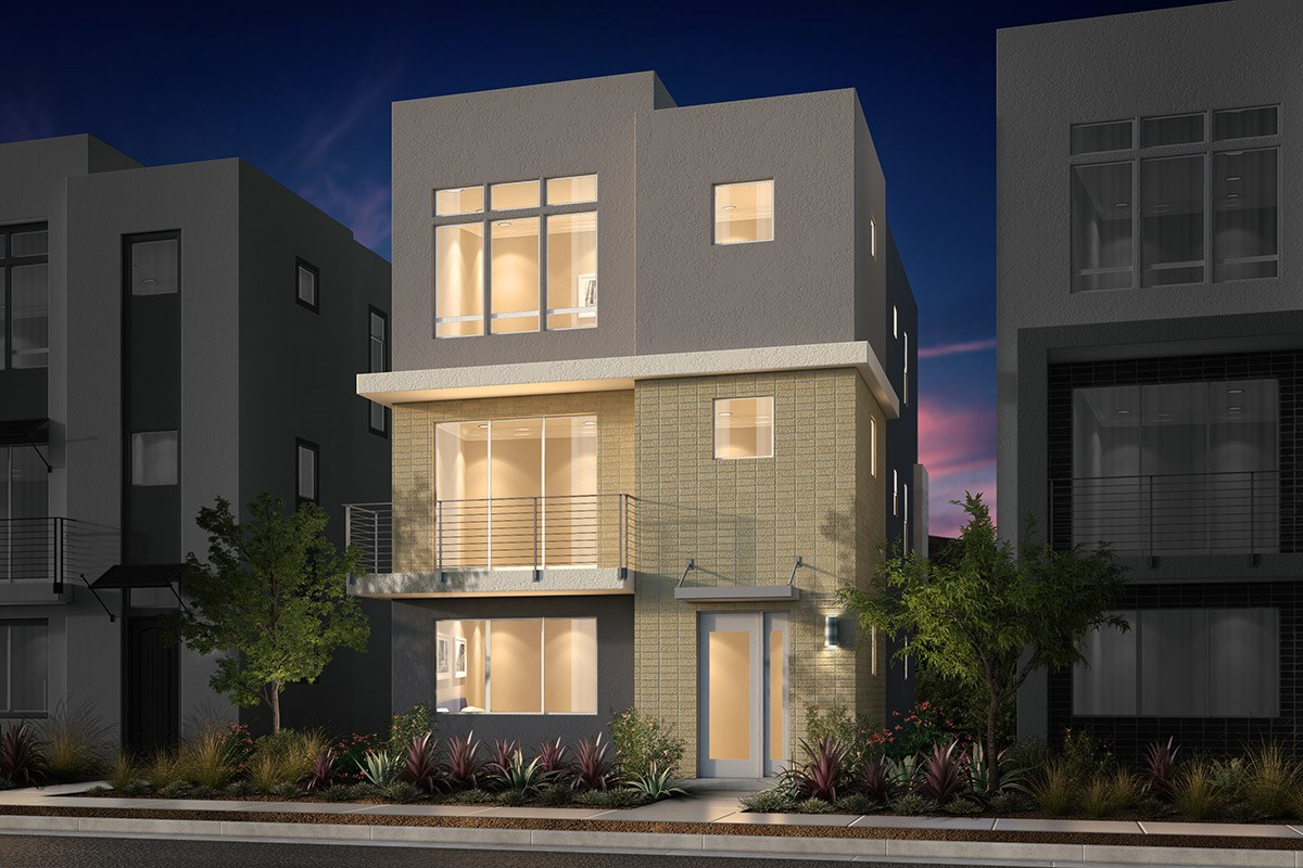 New Homes in San Jose, CA - Promenade II at Communications Hill Plan 1 Contemporary A Ground Level Entry