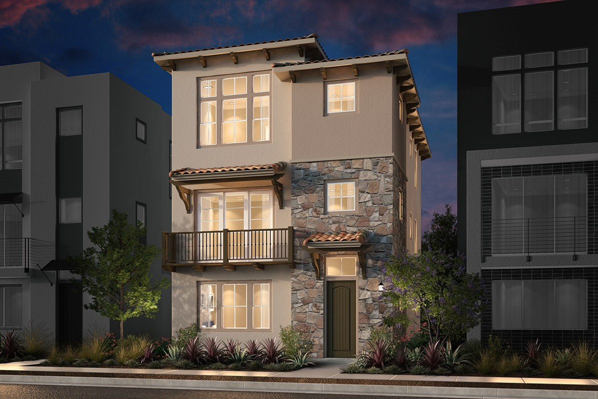 New Homes in San Jose, CA - Promenade II at Communications Hill Plan 1 Mediterranean