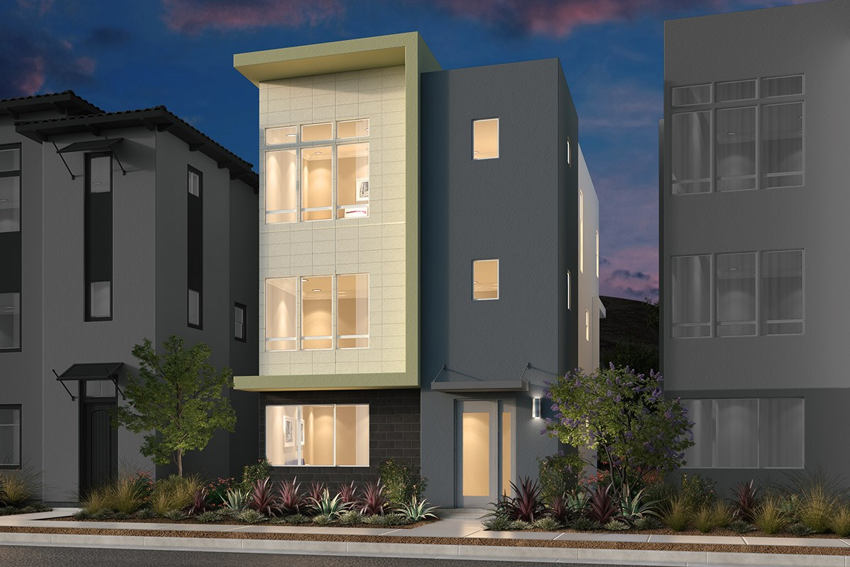New Homes in San Jose, CA - Promenade II at Communications Hill Plan 2 Contemporary A Ground Level Entry
