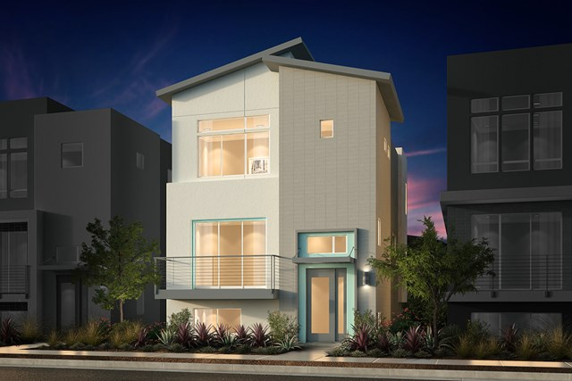 New Homes in San Jose, CA - Contemporary C Mid Level Entry