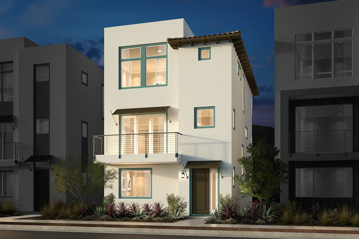 New Homes in San Jose, CA - Promenade II at Communications Hill Plan 3 Transitional