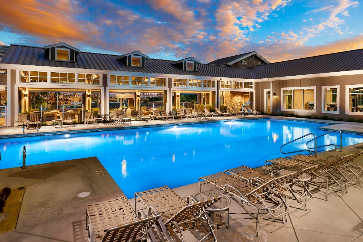 New Homes in Dublin, CA - Riverton at Wallis Ranch Kindred House Pool Amenity