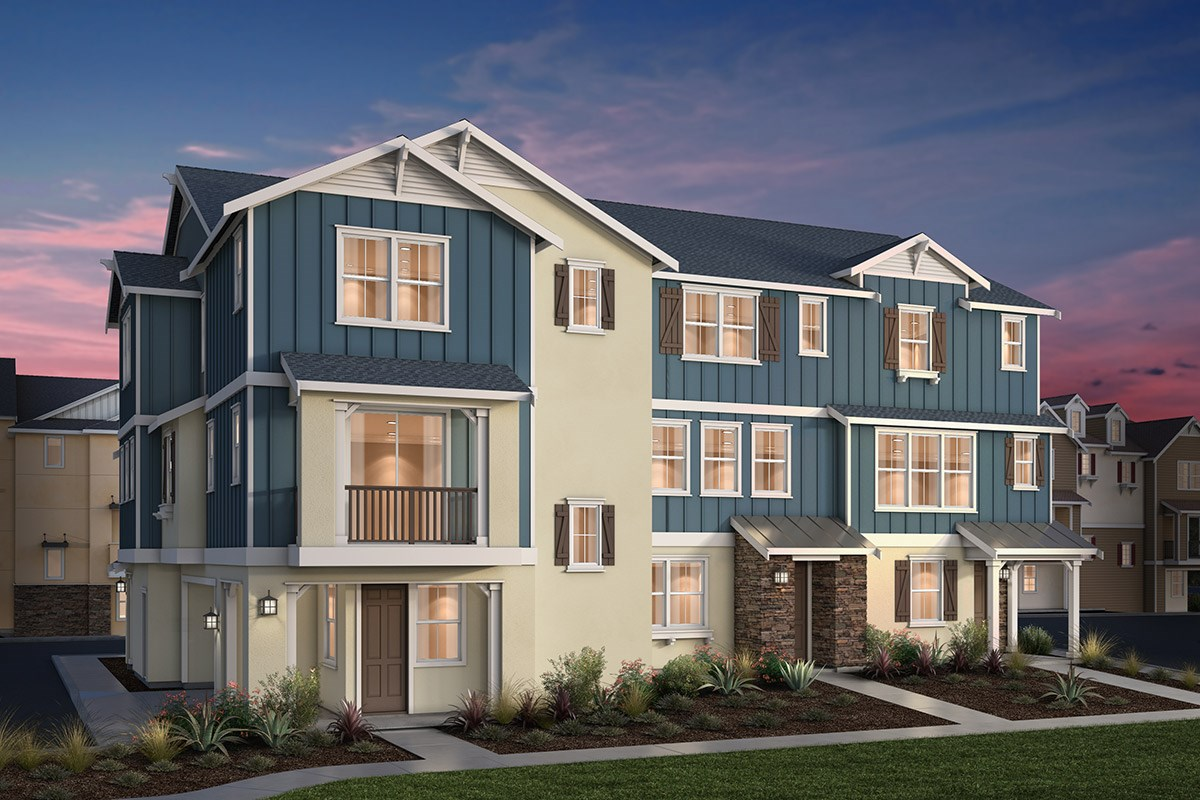 New Homes in Dublin, CA - Riverton at Wallis Ranch 4-Plex Napa Valley Classic Elevation