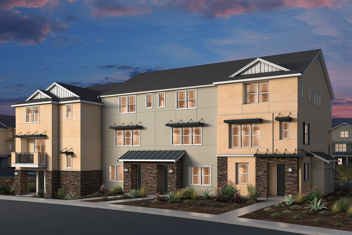 New Homes in Dublin, CA - Riverton at Wallis Ranch 5-Plex Contemporary Farmhouse Elevation