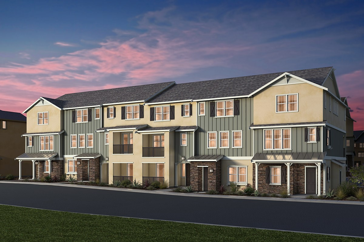 New Homes in Dublin, CA - Riverton at Wallis Ranch 6-Plex Napa Valley Classic Elevation