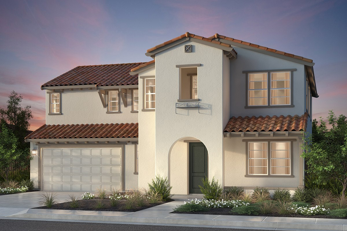 New Homes in Newark, CA - Rosebriar at Sanctuary Village Plan 2 Spanish 'A'