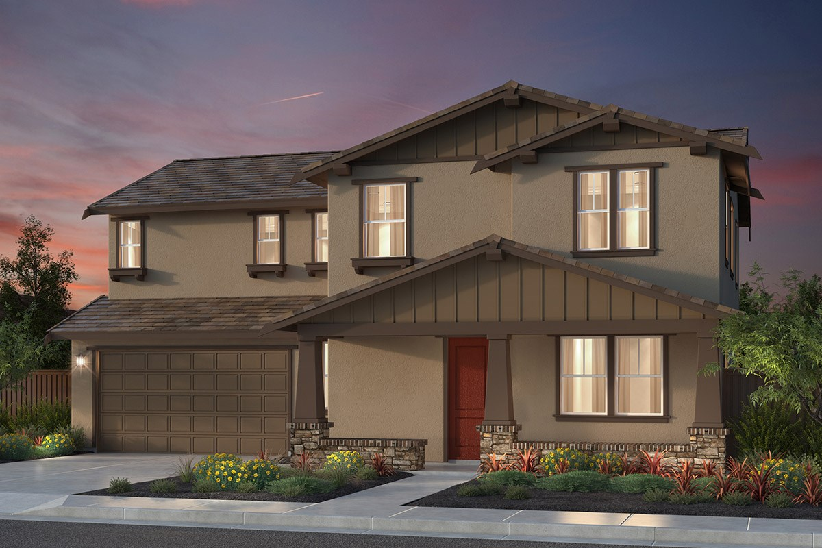 New Homes in Newark, CA - Rosebriar at Sanctuary Village Plan 2 Craftsman 'B'