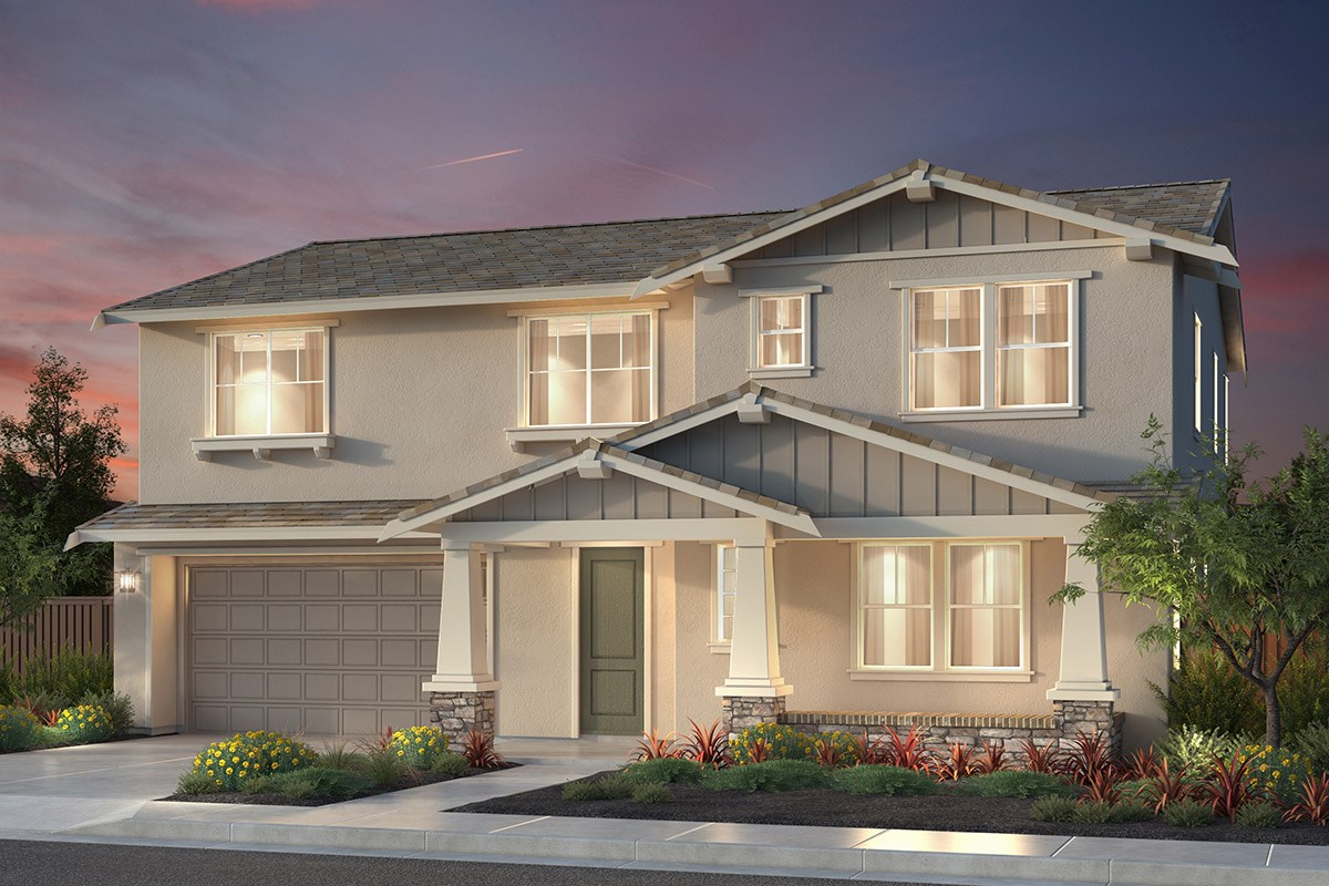 New Homes in Newark, CA - Rosebriar at Sanctuary Village Plan 3 Craftsman 'B'