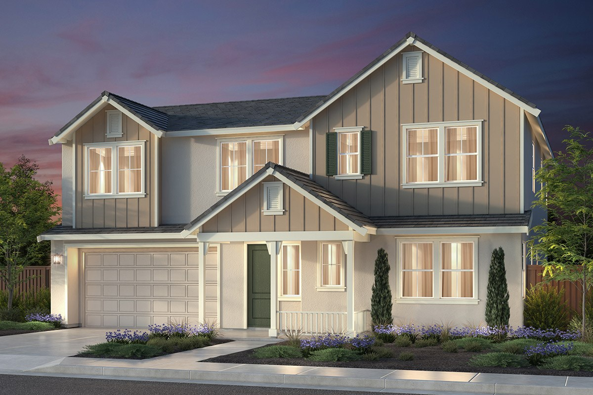 New Homes in Newark, CA - Rosebriar at Sanctuary Village Plan 3 Farmhouse 'C'