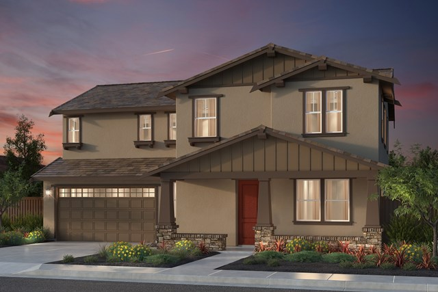 New Homes in Newark, CA - Plan 2 Craftsman 'B' Elevation