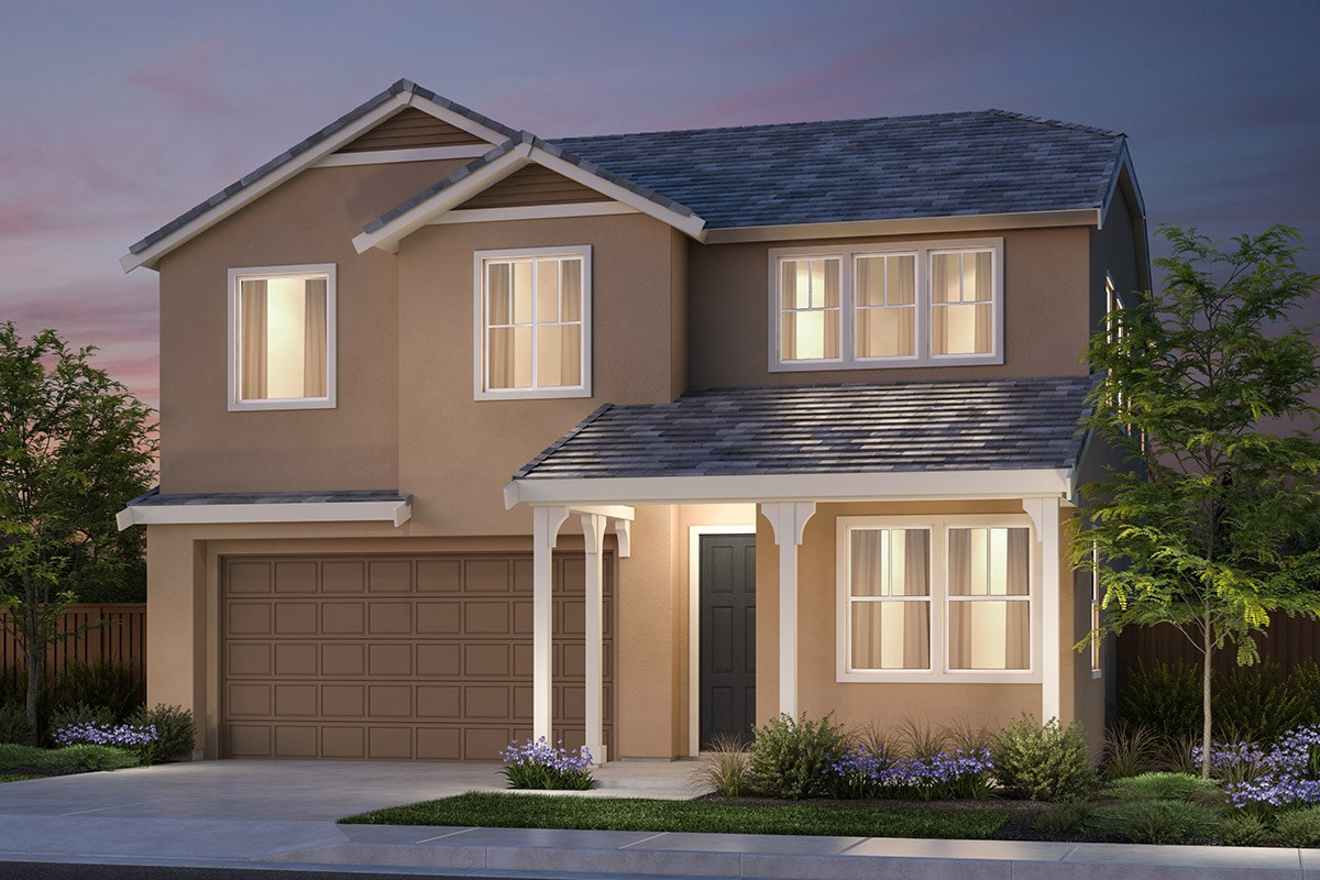 New Homes in Vallejo, CA - Skyline Plan 2 French Country Elevation