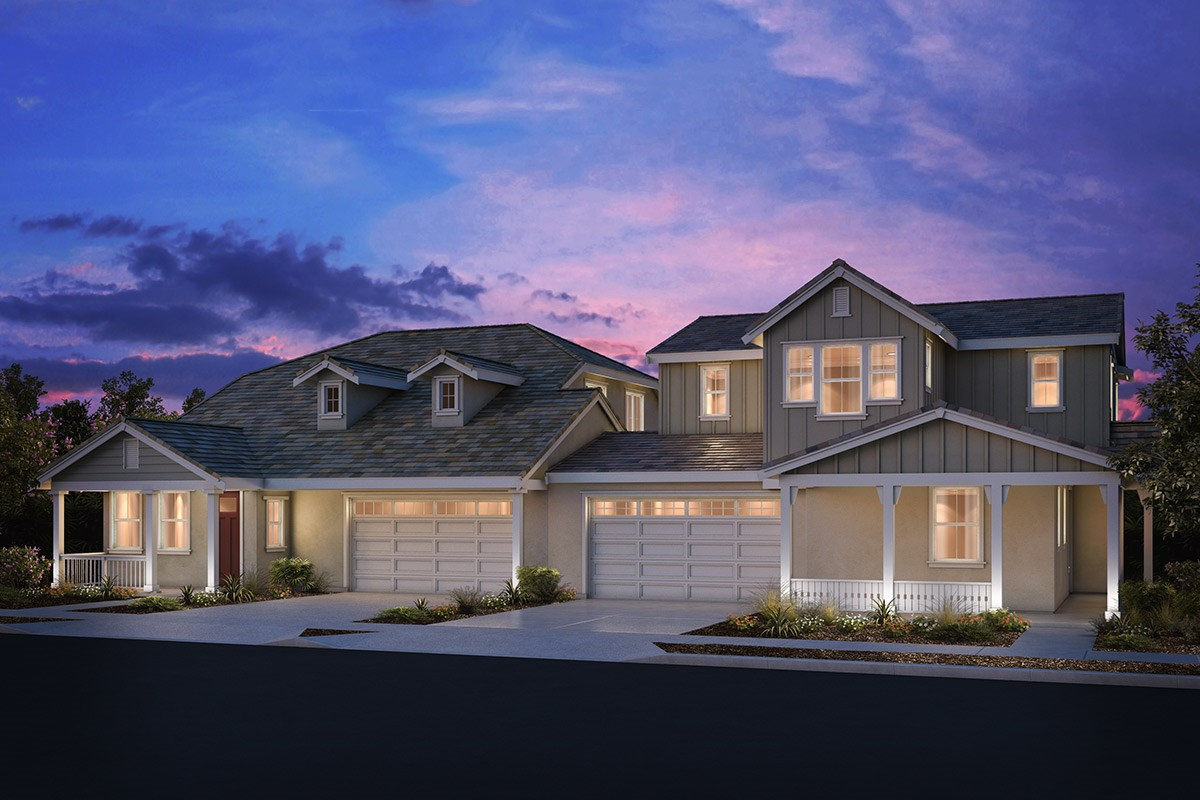 New Homes in Brentwood, CA - Sparrow at Marsh Creek Plan 4/5 Duplex