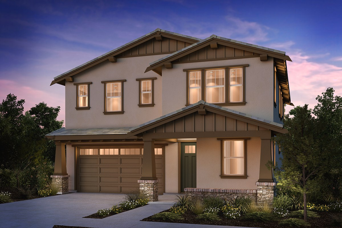 New Homes in Brentwood, CA - Sparrow at Marsh Creek Plan 3 Craftsman 'B'