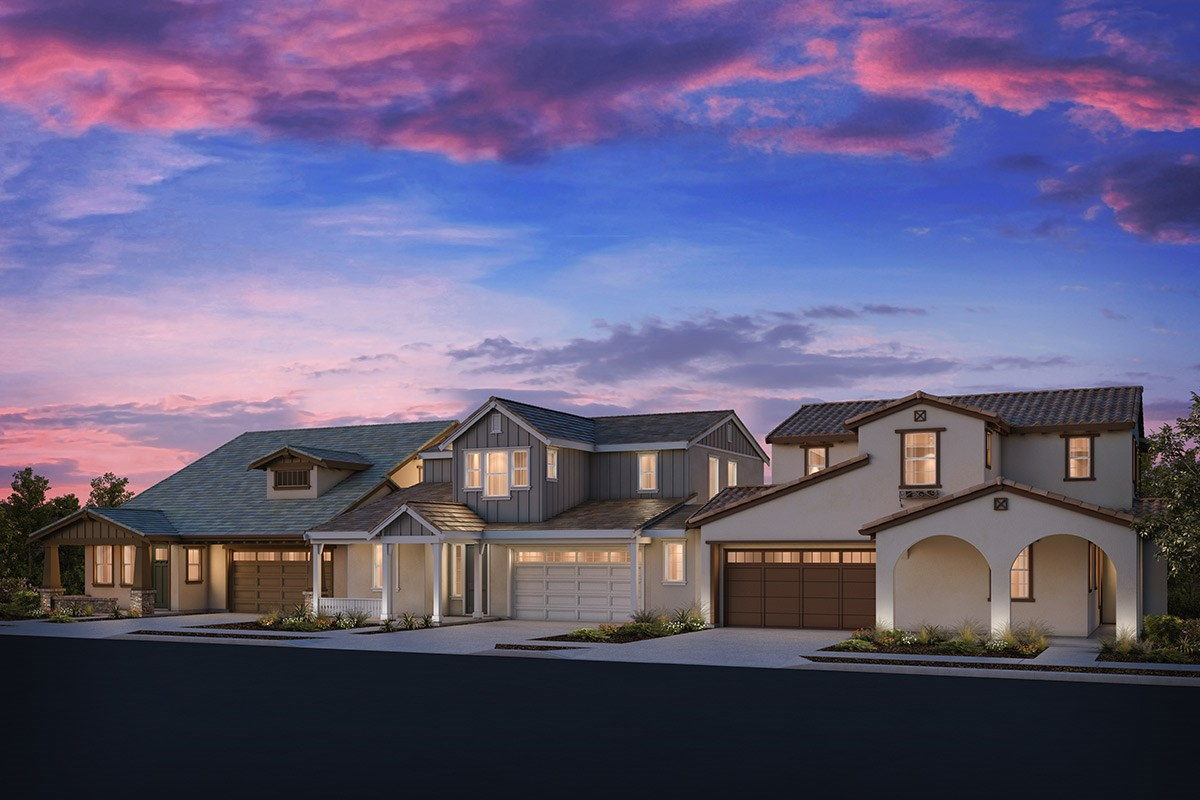 New Homes in Brentwood, CA - Sparrow at Marsh Creek Plan 4/5 Triplex 'A'