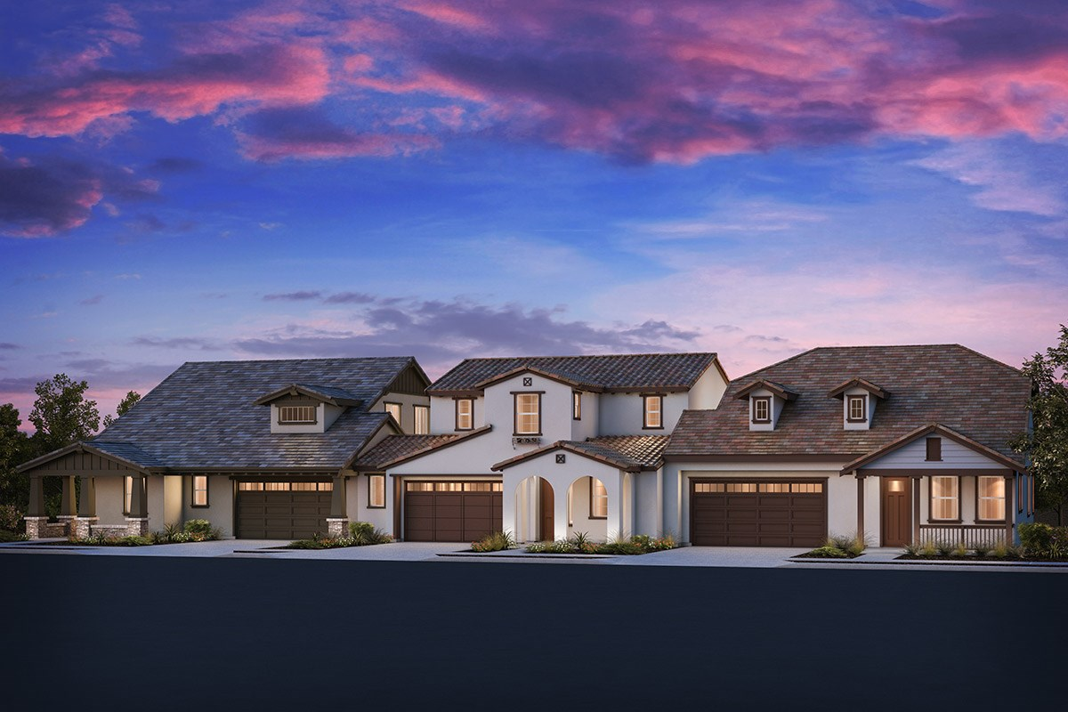 New Homes in Brentwood, CA - Sparrow at Marsh Creek Plan 4/5 Triplex 'B'